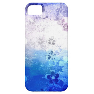 Vintage grunge blue floral pattern barely there iPhone 5 case