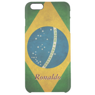 Vintage Grunge Brazil Flag Bandeira do Brasil iPhone 6 Plus Case