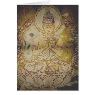 Vintage Grunge Buddha Card