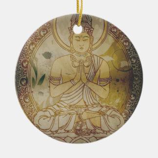 Vintage Grunge Buddha Christmas Ornament