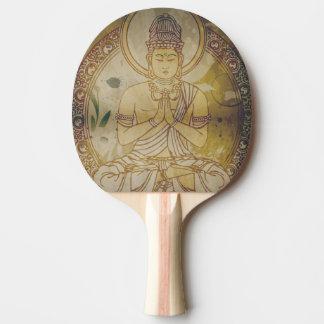Vintage Grunge Buddha Ping Pong Paddle