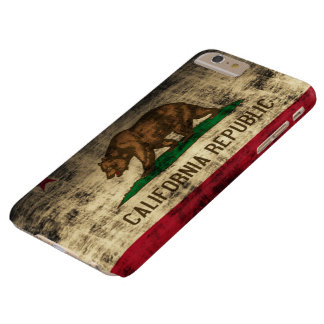 Vintage Grunge California Flag Barely There iPhone 6 Plus Case