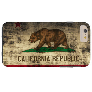 Vintage Grunge California Flag Tough iPhone 6 Plus Case