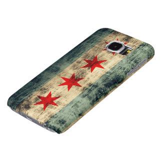 Vintage Grunge Chicago Flag Samsung Galaxy S6 Cases