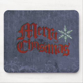Vintage Grunge Christmas Mouse Pad