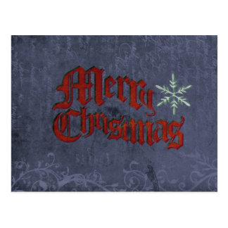Vintage Grunge Christmas Postcard