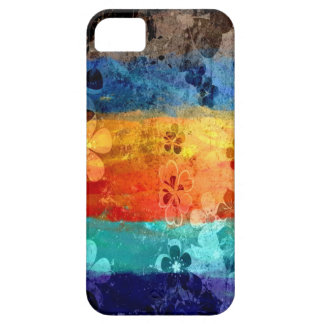 Vintage grunge colorful floral pattern iPhone 5 cover