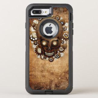 Vintage Grunge Copper Steampunk Skull OtterBox Defender iPhone 8 Plus/7 Plus Case