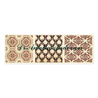 Vintage,grunge,damask pattern collage, victorian Double-Sided mini business cards (Pack of 20)