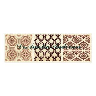 Vintage,grunge,damask pattern collage, victorian pack of skinny business cards