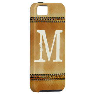 Vintage Grunge Faux Nail Head Monogram iPhone 5 Case For The iPhone 5