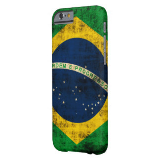 Vintage Grunge Flag of Brazil Barely There iPhone 6 Case