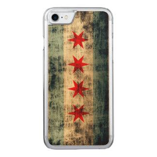 Vintage Grunge Flag of Chicago Carved iPhone 8/7 Case