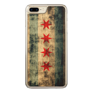 Vintage Grunge Flag of Chicago Carved iPhone 8 Plus/7 Plus Case