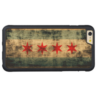 Vintage Grunge Flag of Chicago Carved Maple iPhone 6 Plus Bumper Case