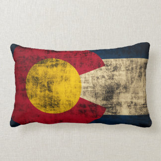 Vintage Grunge Flag of Colorado Lumbar Cushion
