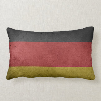Vintage Grunge flag of Germany Lumbar Cushion