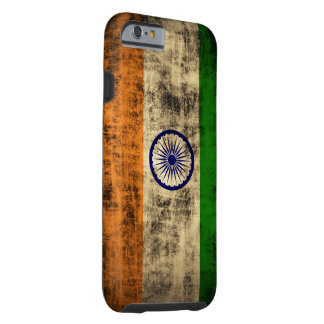 Vintage Grunge Flag of India Tough iPhone 6 Case
