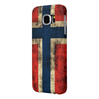 Vintage Grunge Flag of Norway Samsung Galaxy S6 Cases