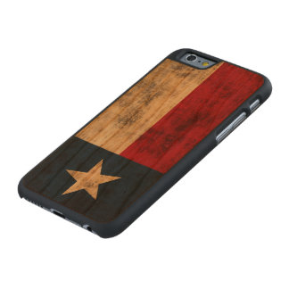 Vintage Grunge Flag of Texas Carved Cherry iPhone 6 Case