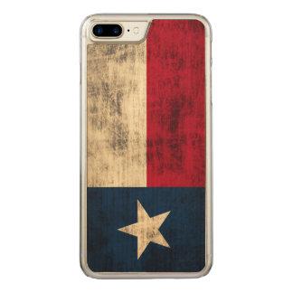 Vintage Grunge Flag of Texas Carved iPhone 7 Plus Case