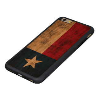 Vintage Grunge Flag of Texas Carved® Cherry iPhone 6 Plus Bumper Case