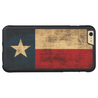 Vintage Grunge Flag of Texas Carved® Maple iPhone 6 Plus Bumper Case
