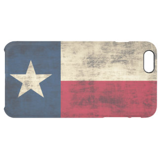Vintage Grunge Flag of Texas Clear iPhone 6 Plus Case