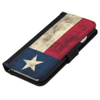 Vintage Grunge Flag of Texas iPhone 6 Wallet Case