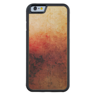 Vintage Grunge Floral Fire Red Faded Roses Artsy Carved® Maple iPhone 6 Bumper