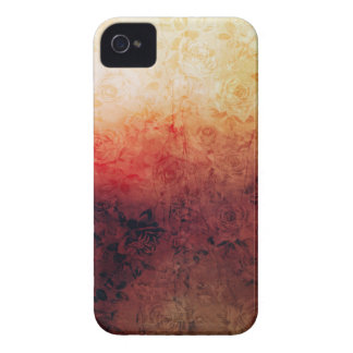 Vintage Grunge Floral Fire Red Faded Roses Artsy Case-Mate iPhone 4 Case