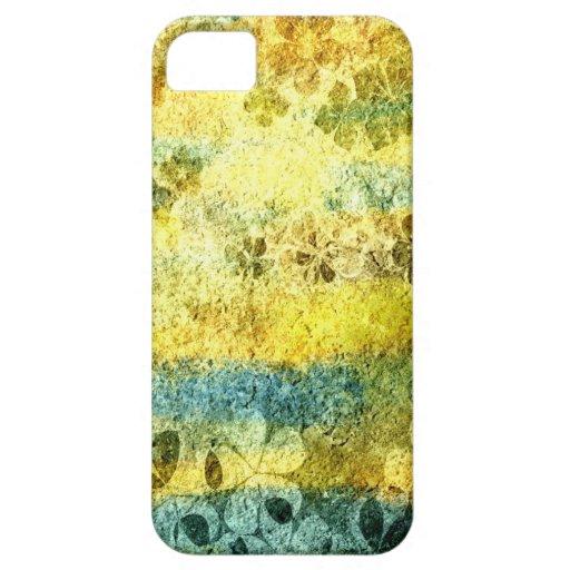 Vintage grunge floral pattern iPhone 5 covers