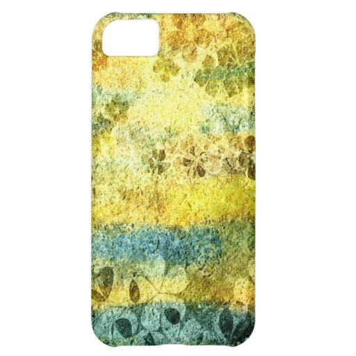 Vintage grunge floral pattern iPhone 5C covers