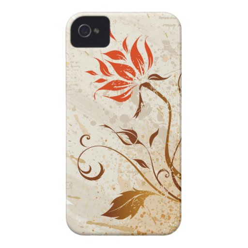 vintage Grunge floral style iPhone 4 Cases