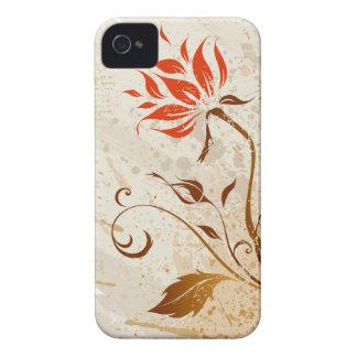 vintage Grunge floral style iPhone 4 Case-Mate Case