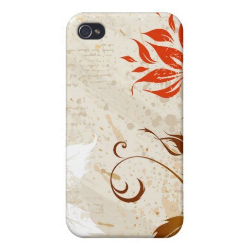 vintage Grunge floral style iPhone 4/4S Covers