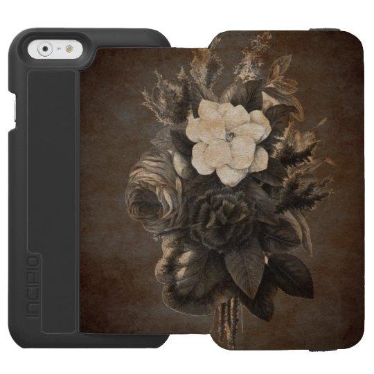 Vintage Grunge Flowers Incipio Watson™ iPhone 6 Wallet Case