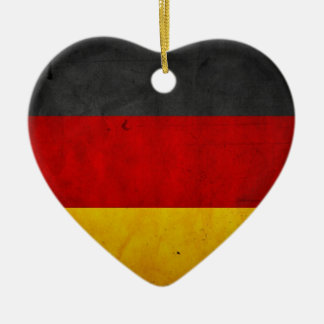 Vintage Grunge Germany Flag Christmas Ornament