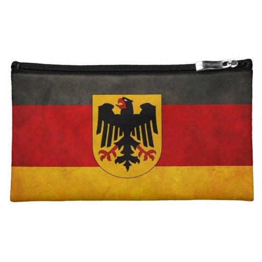 Vintage Grunge Germany Flag Deutschland Flag Cosmetic Bags