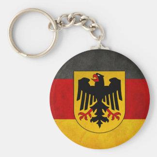 Vintage Grunge Germany Flag Deutschland Flag Basic Round Button Key Ring