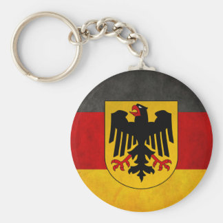 Vintage Grunge Germany Flag Deutschland Flag Key Ring