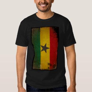 Vintage Grunge Ghana Flag T Shirts