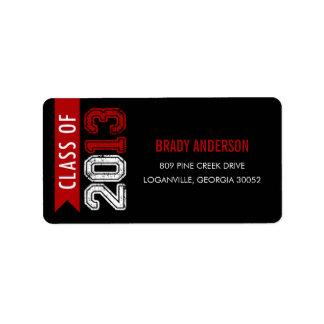 Vintage Grunge Graduation Address Label