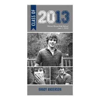 Vintage Grunge Graduation Announcement Photo Card Photo Cards