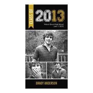 Vintage Grunge Graduation Announcement Photo Card