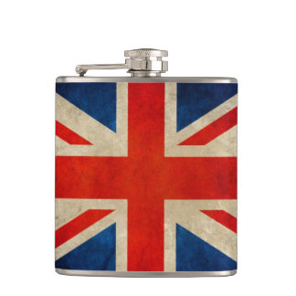 Vintage Grunge Great Britain UK Flag Union Jack Flasks