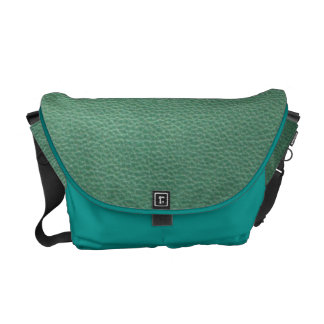 Vintage Grunge Green Leather Pattern Courier Bags