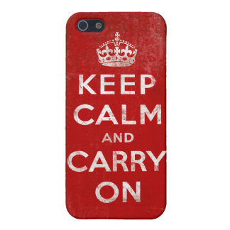 Vintage Grunge Keep Calm and Carry On iPhone 5/5S Cover