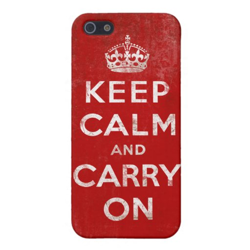 Vintage Grunge Keep Calm and Carry On Case For iPhone 5