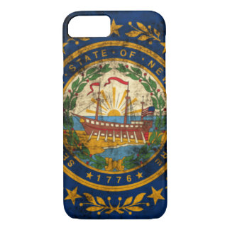 Vintage Grunge New Hampshire Flag iPhone 7 Case